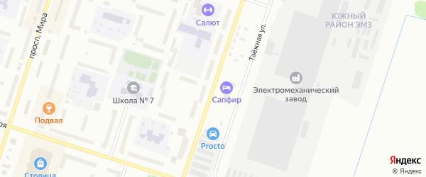 Улица 28 Невельской дивизии на карте Котласа с номерами домов