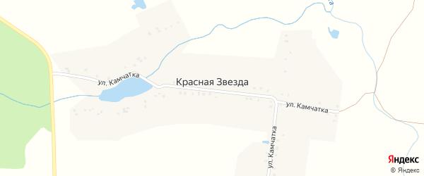 Улица Камчатка на карте поселка Красной Звезды с номерами домов
