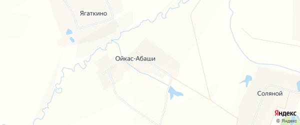 Карта деревни Ойкаса-Абаши в Чувашии с улицами и номерами домов
