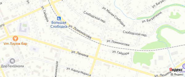 Улица Ломоносова на карте Котласа с номерами домов