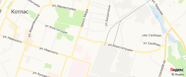 ГСК N11а на карте улицы Конституции с номерами домов