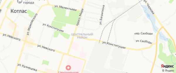 ГСК N11 на карте улицы Конституции с номерами домов