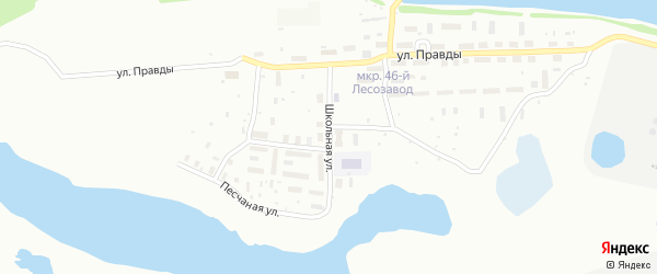 Школьная улица на карте Котласа с номерами домов