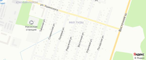 Радужная улица на карте Котласа с номерами домов