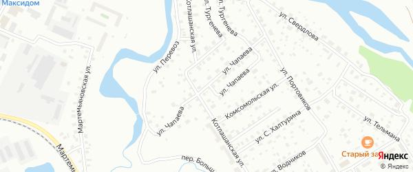 Улица Чапаева на карте Котласа с номерами домов