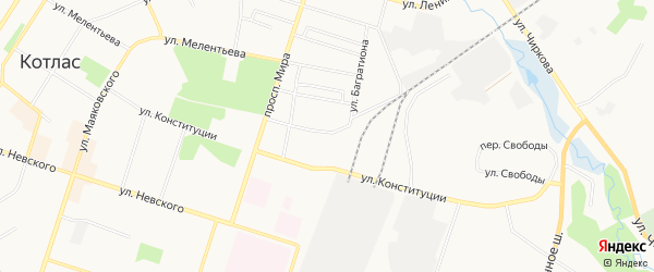 ГСК N20 на карте улицы Достоевского с номерами домов