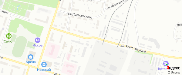 Улица Конституции на карте Котласа с номерами домов