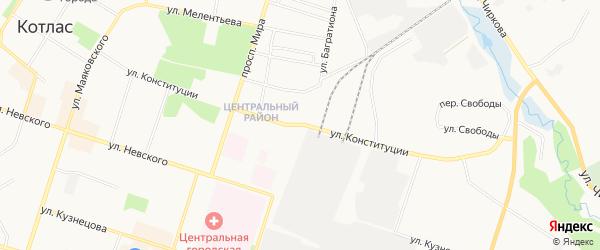 ГСК N66 на карте улицы Конституции с номерами домов