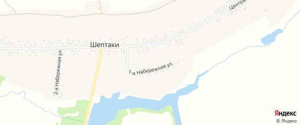 Улица 2-я Набережна на карте деревни Шептаки (Хорнойское с/п) с номерами домов