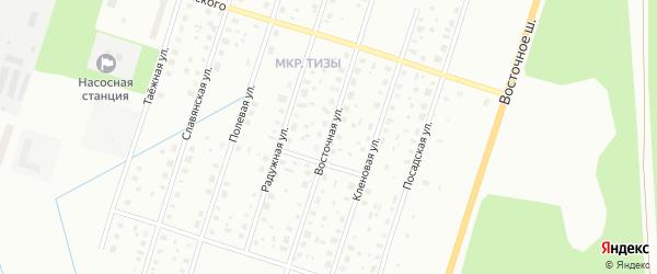 Восточная улица на карте Котласа с номерами домов
