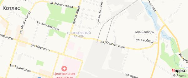 ГСК N90 на карте улицы Конституции с номерами домов