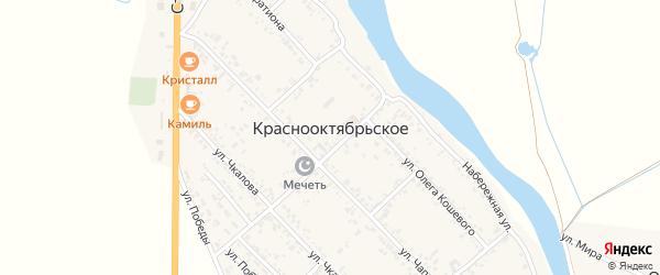 Улица Олега Кошевого на карте Краснооктябрьского села с номерами домов