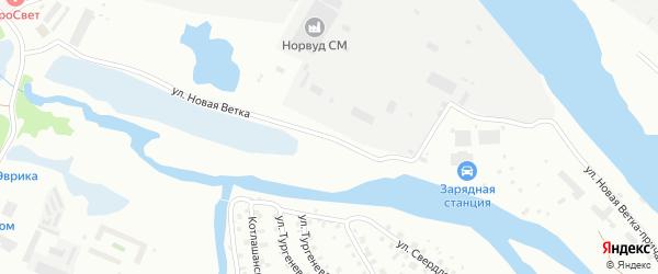 Улица Новая Ветка на карте Котласа с номерами домов