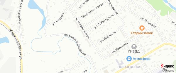 Котлашанская улица на карте Котласа с номерами домов