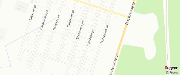 Кленовая улица на карте Котласа с номерами домов