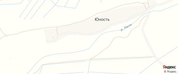 Заречная улица на карте поселка Юности с номерами домов