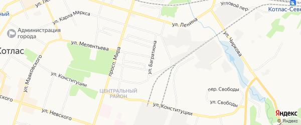 ГСК N-130 на карте улицы Багратиона с номерами домов
