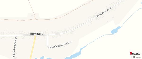 Центральная улица на карте деревни Шептаки (Хорнойское с/п) с номерами домов
