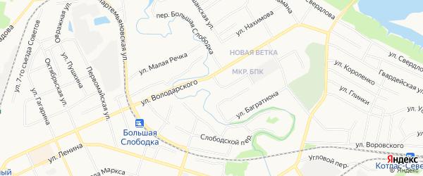 ГСК N84 на карте улицы Володарского с номерами домов