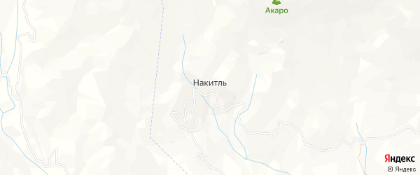 Карта села Накитля в Дагестане с улицами и номерами домов