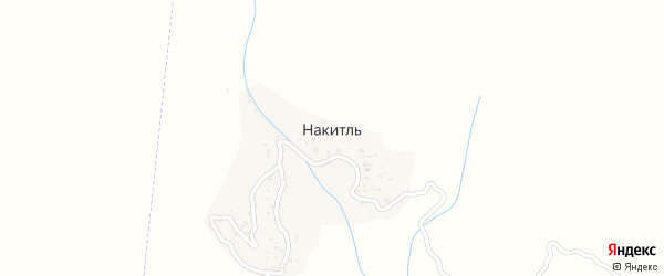 Улица Магомеда Омарова на карте села Накитля с номерами домов