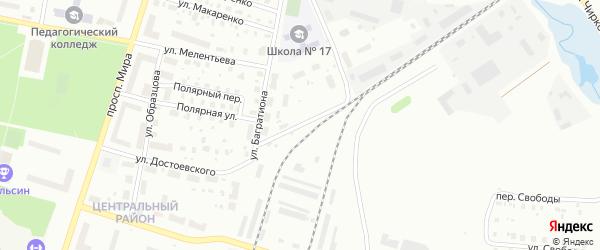 Улица Менжинского на карте Котласа с номерами домов