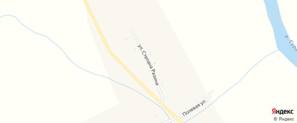 Улица С.Разина на карте села Иваньково-ленина с номерами домов