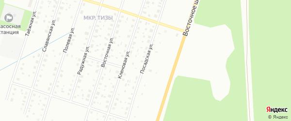 Посадская улица на карте Котласа с номерами домов