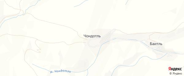 Карта села Чондотля в Дагестане с улицами и номерами домов