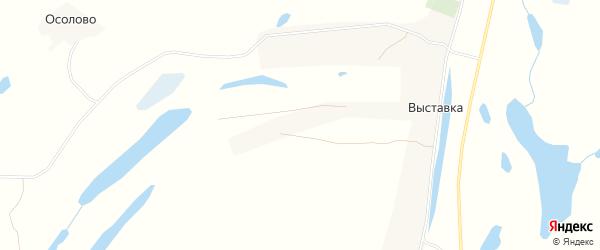 Карта деревни Выставки в Архангельской области с улицами и номерами домов