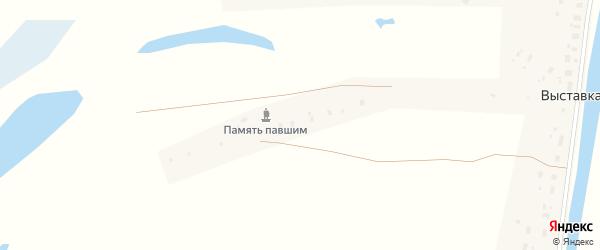 Совхозная улица на карте деревни Выставки с номерами домов