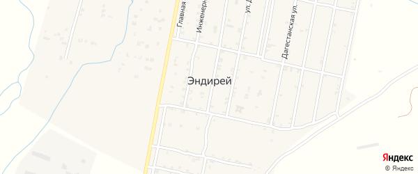 Улица Даудова на карте села Эндирея с номерами домов