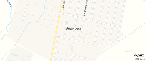 Улица Аджиева на карте села Эндирея с номерами домов