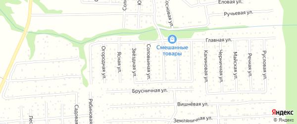 Соловьиная улица на карте садового некоммерческого товарищества СОТ Двинские Зори с номерами домов