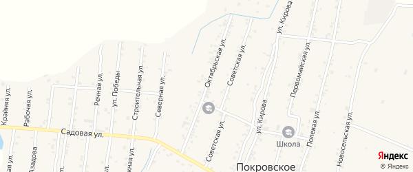 Октябрьская улица на карте Покровского села с номерами домов