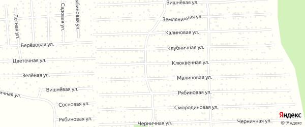 Клюквенная улица на карте поселка СОТА Малодвинского с номерами домов