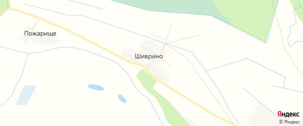Карта деревни Шиврино в Архангельской области с улицами и номерами домов