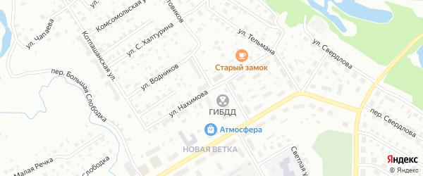 Улица Нахимова на карте Котласа с номерами домов
