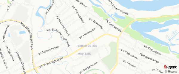 ГСК N121 на карте улицы Володарского с номерами домов