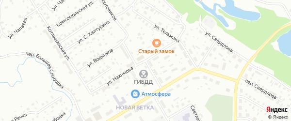 Улица Портовиков на карте Котласа с номерами домов