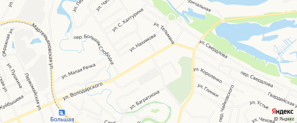 ГСК N114 на карте улицы Володарского с номерами домов
