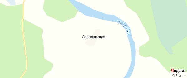 Карта Агарковской деревни в Архангельской области с улицами и номерами домов