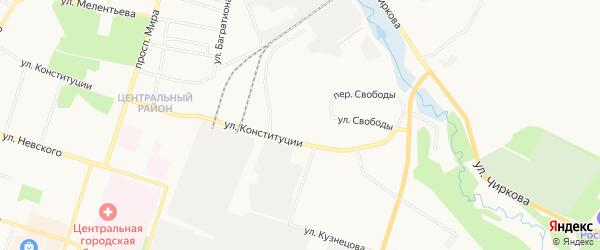 ГСК N 39 на карте улицы Конституции с номерами домов