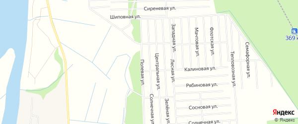 Карта поселка СОТА Восхода-2 в Архангельской области с улицами и номерами домов