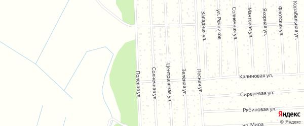 Полевая улица на карте поселка СОТА Восхода-2 с номерами домов