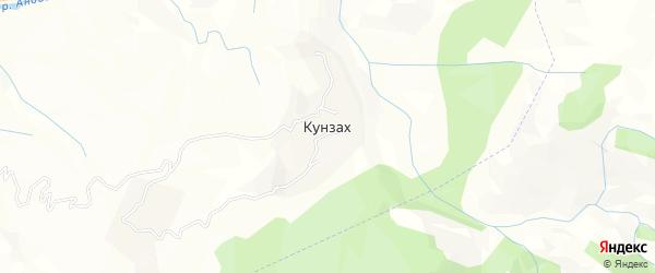 Карта села Кунзаха в Дагестане с улицами и номерами домов