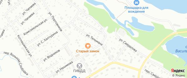Улица Тельмана на карте Котласа с номерами домов