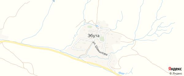 Улица Расула Гамзатова на карте села Эбуты с номерами домов