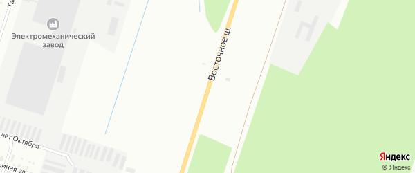 Восточное шоссе на карте Котласа с номерами домов