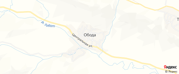 Карта села Ободы в Дагестане с улицами и номерами домов
